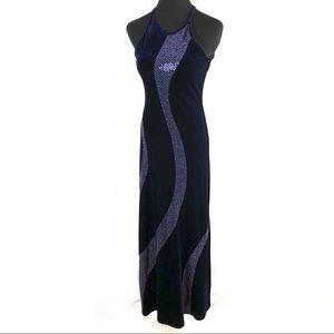 Cute vintage 90's blue velvet dress